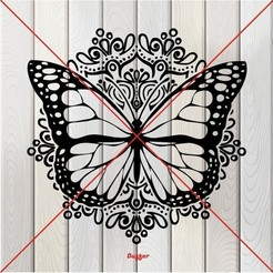 q.JPG Download STL file Butterfly  • 3D printable template, Duffer1992