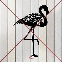 q.JPG Download free STL file Flamingo • 3D printable template, Duffer1992