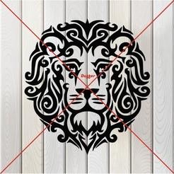q.JPG Télécharger fichier STL tête de lion6 • Plan à imprimer en 3D, Duffer1992