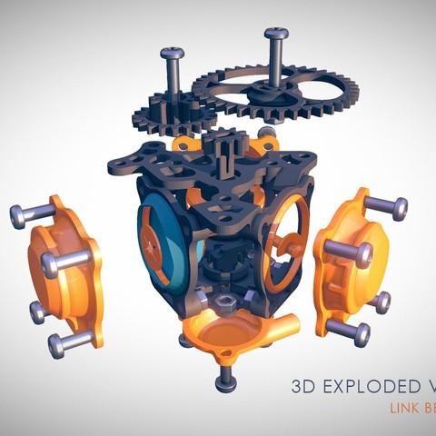 Exploded_View.jpg Télécharger fichier STL gratuit Moteur pneumatique radial simple • Modèle pour imprimante 3D, Slava_Z