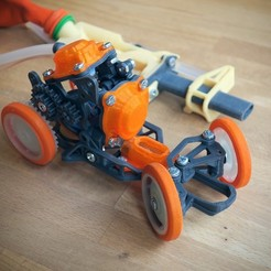 Download 3D print files Pneumobile: Pneumatic Toy Car, Slava_Z