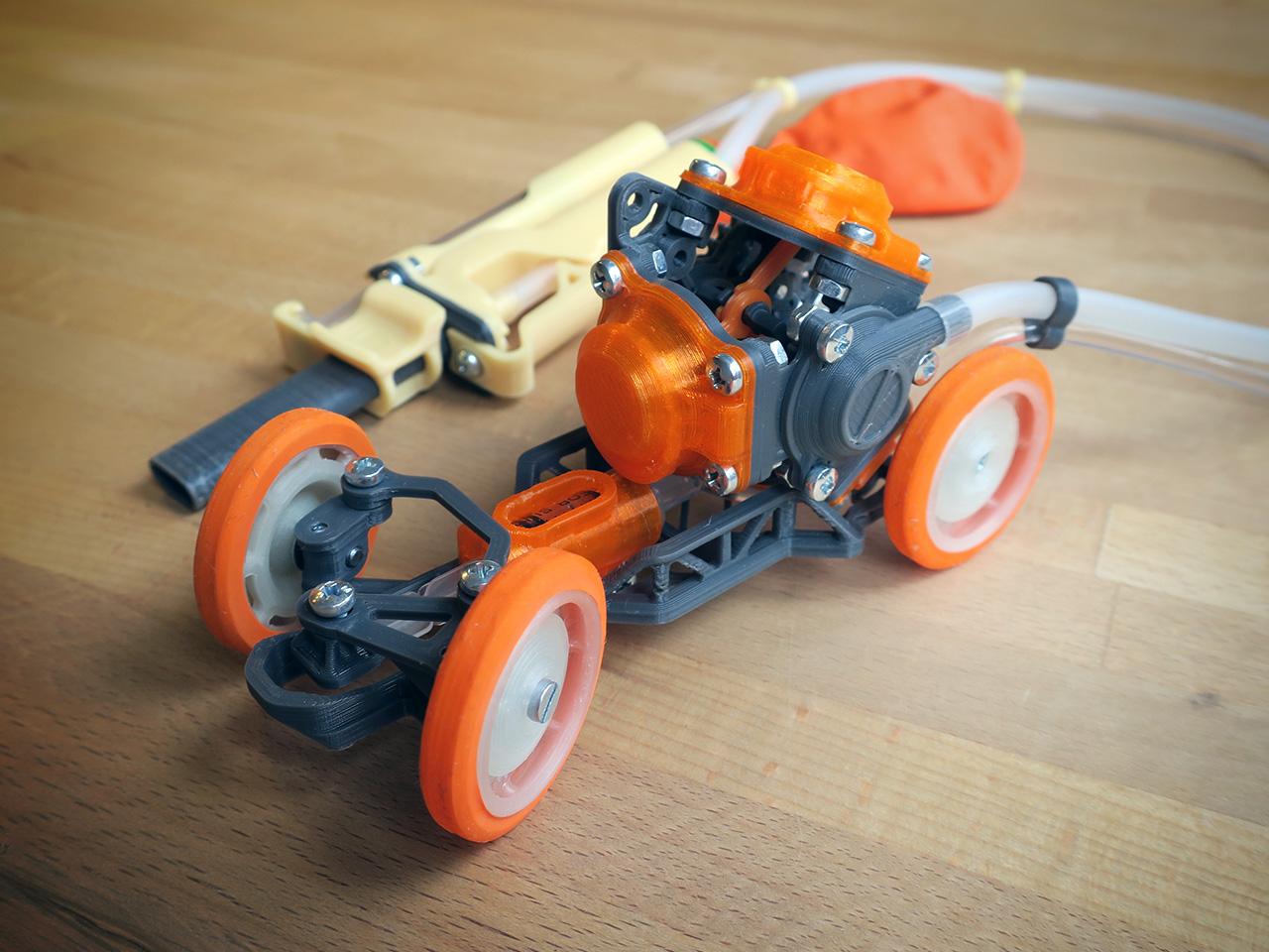 PneuMobile_3.jpg Télécharger fichier STL Pneumobile : Voiture-jouet pneumatique • Plan imprimable en 3D, Slava_Z