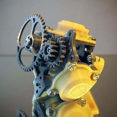 116e76dc2783b3eb3a0a11a852c0170b_display_large.jpg Télécharger fichier STL gratuit Moteur pneumatique radial simple • Modèle pour imprimante 3D, Slava_Z