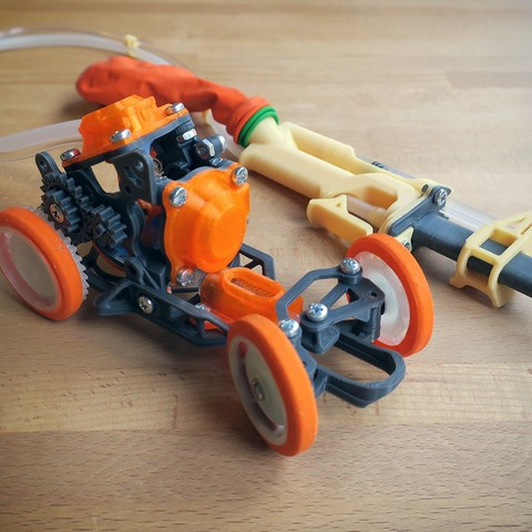 PneuMobile_4.jpg Télécharger fichier STL Pneumobile : Voiture-jouet pneumatique • Plan imprimable en 3D, Slava_Z