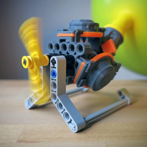 Impresiones 3D gratis Motor de globo aerostático para LEGO, Slava_Z
