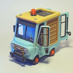 Blue_1.jpg Download STL file Piggy Van • 3D printing object, Slava_Z