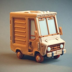 Jr_2_2.jpg Download free STL file Piggy Van Jr • 3D printing object, Slava_Z