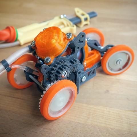 PneuMobile_2.jpg Télécharger fichier STL Pneumobile : Voiture-jouet pneumatique • Plan imprimable en 3D, Slava_Z