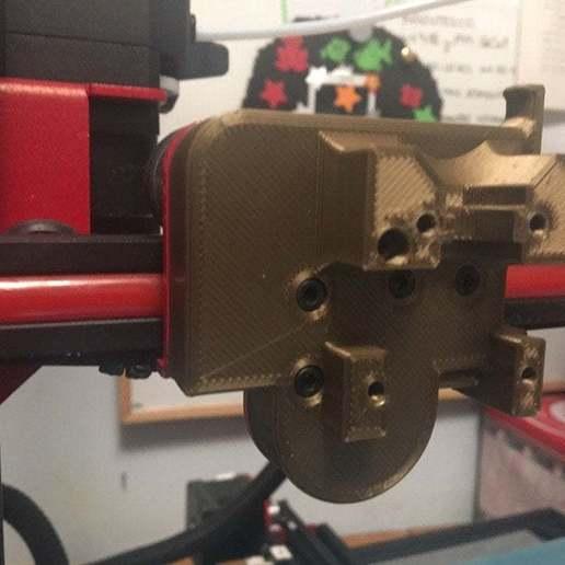 Download gratis 3D-printersjablonen Alfawise U20 E3D V6 MOUNT met kortere M3x30-schroeven, Apakkapa