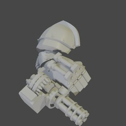 Download free STL file Steampunk Gatling power fist • 3D printable template, Gustaff