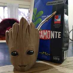 Download 3D printing templates Mate baby groot, nralo