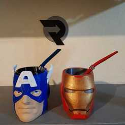 WhatsApp Image 2020-03-01 at 22.35.16.jpeg Download 3MF file Mate Cap Americo + Iron Man PROMOTION • Design to 3D print, nralo