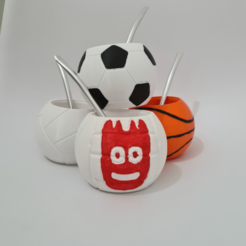 ApplicationFrameHost_2NswyaxKry.png Download 3MF file matt balls x 4 • 3D printing template, nralo