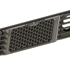 Grill v1.png Download STL file Hex Grill for Landy 4x4 • 3D printing model, DoubekDesign