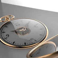 Free STL file pocket watch, Arzmael