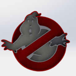 3D print files ghostbusters logo, oxher