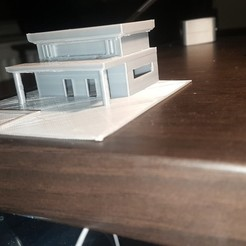 Free 3d printer model house model 1/100 house, heddi