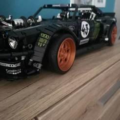 Descargar modelos 3D Llanta Lego Technic Ford Mustang Hoonicorn, sauer0m