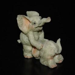 Télécharger fichier STL Eléphants • Plan à imprimer en 3D, w8_bobo_s