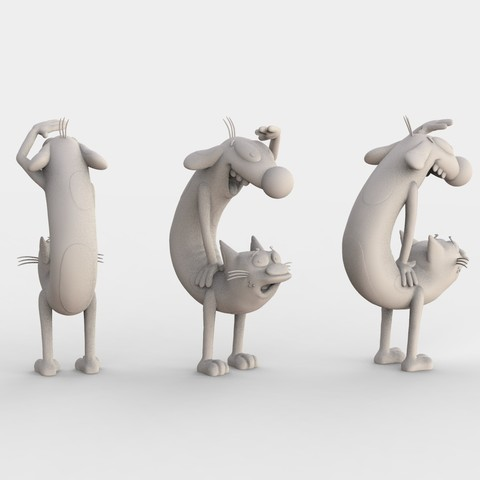 CATDOG_NICKELODEON.108.jpg Download free STL file CatDog Nickelodeon • 3D print design, ismael_jiso