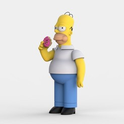 HOMER_SIMPSON_FINAL.jpg Download free STL file Homer Jay Simpson • 3D printable design, ismael_jiso
