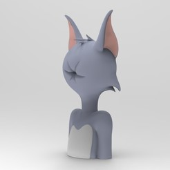 Imprimir en 3D Tom and Jerry, Tom hole face, ismael_jiso