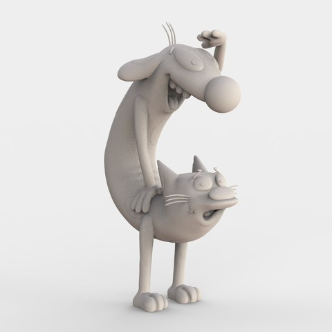 CATDOG_NICKELODEON.106.jpg Download free STL file CatDog Nickelodeon • 3D print design, ismael_jiso