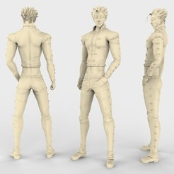 BAN_WITH_JACKET.4.jpg Download free STL file Ban Nanatsu NT • Design to 3D print, ismael_jiso