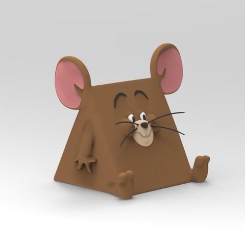 Free 3D printer model Tom and Jerry, Jerry cheese body, ismael_jiso