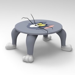 3D printer models Tom and Jerry, Tom table body., ismael_jiso