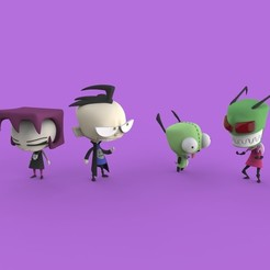 Download free 3D printing designs Invader Zim, ismael_jiso
