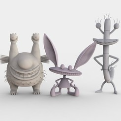 Free 3D print files Aaahh!!!! Real Monsters, ismael_jiso