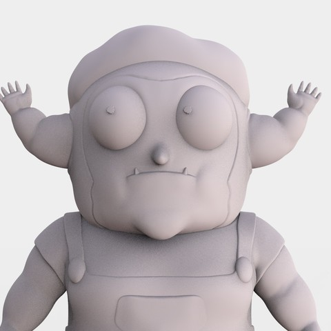 MORTY_JR_R_AND_M.82.jpg Download free STL file Morty Jr Rick and Morty • Template to 3D print, ismael_jiso