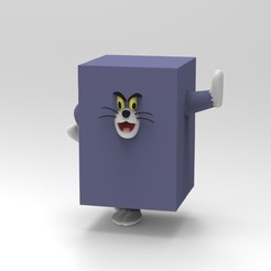 Descargar modelos 3D para imprimir Tom and Jerry, Tom cube, ismael_jiso