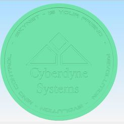 1.JPG Download STL file Cyberdyne systems 1 mega watt coin • 3D printing object, DN78956