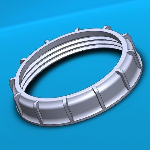 3D printer models Fuel cap nut FP - Fuel cap nut FP, Eskimal