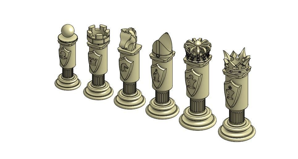 chess set 2 .JPG Download free STL file Chess Set • Template to 3D print, Hectdiaf
