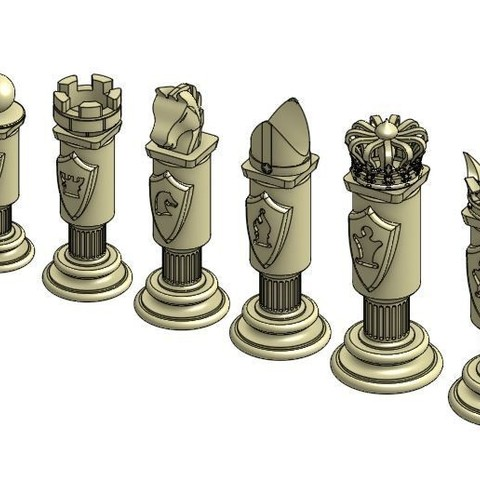 Download free 3D printing models Chess Set, Hectdiaf