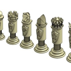Download free STL file Chess Set • Template to 3D print, Hectdiaf
