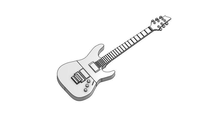 guitar.JPG Télécharger fichier STL gratuit Boîtier USB 1 • Modèle pour imprimante 3D, Hectdiaf