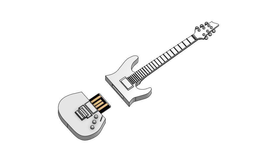 guitar2.JPG Télécharger fichier STL gratuit Boîtier USB 1 • Modèle pour imprimante 3D, Hectdiaf