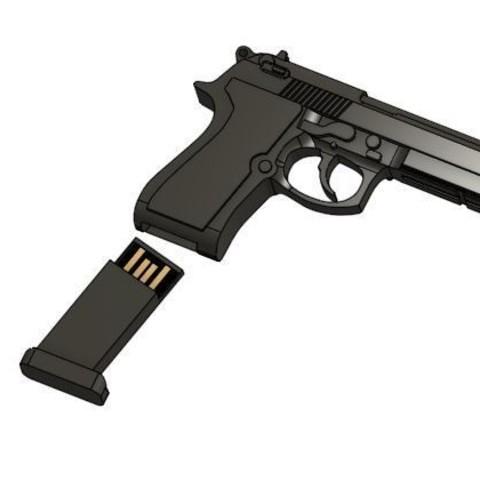 Guns_usb.JPG Télécharger fichier STL gratuit Boîtier USB 2 • Modèle imprimable en 3D, Hectdiaf