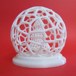 Download free STL Voronoi Christmas Tree Globe, inProgressDesigns