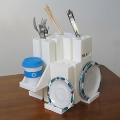 Télécharger STL gratuit Stacker Blocks - Entreposage de cuisine, inProgressDesigns