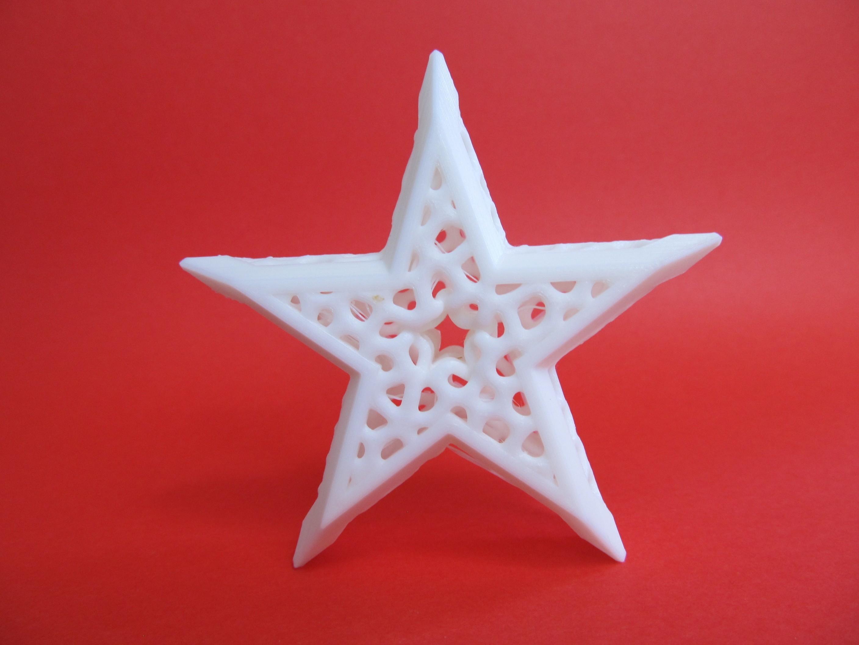 Framed Voronoi Star Front.JPG Download free STL file Framed Voronoi Star • 3D printable template, inProgressDesigns