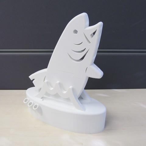 Fish_Headphone_Stand_Organiser.JPG Download free STL file Fish Headphone Stand Organiser • 3D printing model, inProgressDesigns