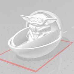 bebe yoda lando.JPG Download STL file baby yoda in his lando • 3D printer object, jenemorel