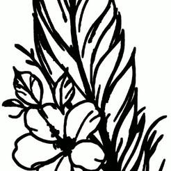 plume fleur.jpg Télécharger fichier STL plume,fleur • Objet pour imprimante 3D, jenemorel
