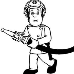 sam pompier noir.jpg Télécharger fichier STL coloriage,sam,le,pompier • Design à imprimer en 3D, jenemorel