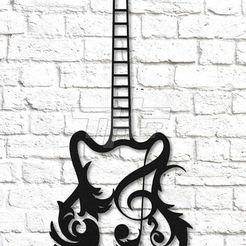 guitare.jpg Télécharger fichier STL quitare, • Design à imprimer en 3D, jenemorel